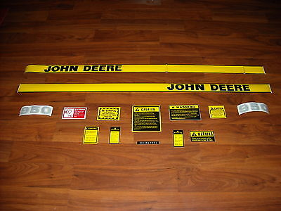 Tractor decal set with caution decals hood to fit John Deere 950