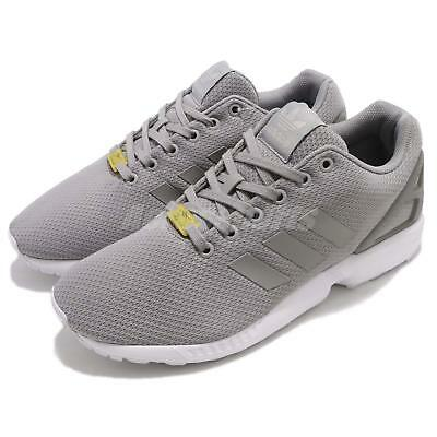8b16da9dd adidas Originals ZX Flux Grey White Mens Running Shoes Sneakers Trainers  M19838