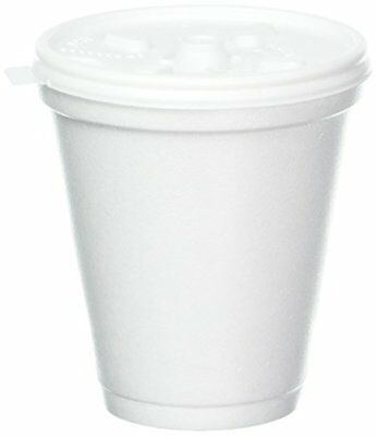 White Disposable Coffee Foam Cups Hot and Cold Drink Cup Pack of 100, Dart 8 Oz
