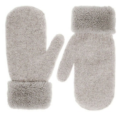 Gloves Knitted Winter Warm Soft Women Mittens Thick, Hemp Plush Lining, NEW