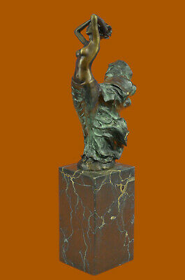 Bronze Statue Sensual Mermaid Sea Goddess Woman Figure Sculpture by J. Erte Sale
