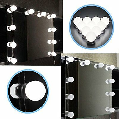 Hollywood Mirror Vanity LED Light Kit Beauty Makeup With 10 Bulbs Dimmer,AUplug