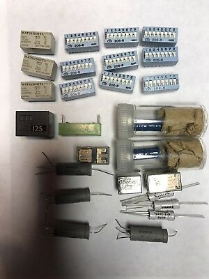 Assortment of Relays and 8 Position DIP Switches