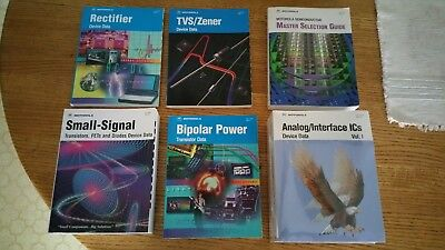 Set of 7 Motorola Data Books