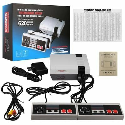 Mini Vintage Retro TV Game Console Classic 620 Built-in Games 2 Controllers US