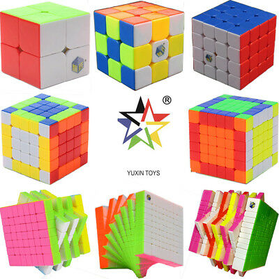 Multi Yuxin Magic Cube 2x2 3x3 4x4 5x5 Megaminx Pyraminx Speed Twist Puzzle Toy