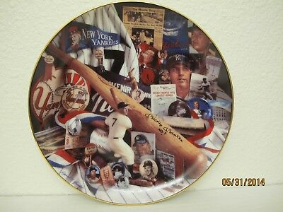 Mickey Mantle Collector Plates 2 Each (#4416A & 2319A) From Hamilton Collection