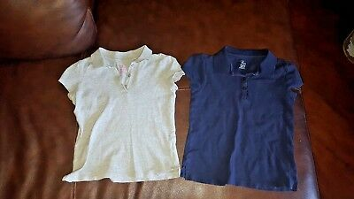 The Children's Place Lot of 2 Girl's Uniform Polos size 7-8