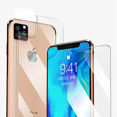 9H Front+Back Tempered Glass Film Screen Protector for Apple iPhone XS Max/XR/ X