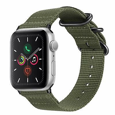 For New iWatch Apple Watch Series 4 44mm 2018 Nylon Woven Band Strap Replacement