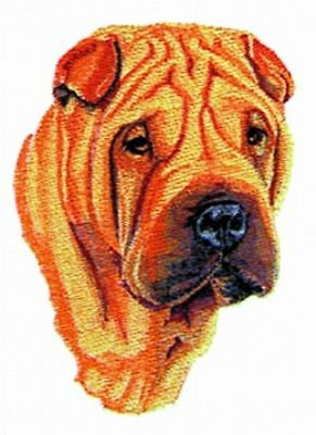 "Shar Pei Dog, Embroidered Patch 4.7"" x 6.4"""