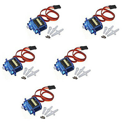 9G SG90 Mini Micro Digital Servo For RC Robot Helicopter Airplane Car Boat 5PCs