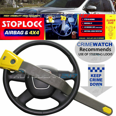 Stoplock Car Van 4x4 Motorhome Air Bag Compatible Anti-Theft Lock Steering Wheel