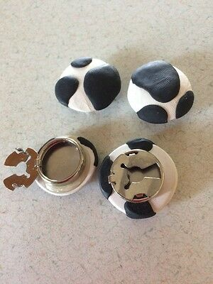 Vintage Cow Print Shirt Button Covers Set of 4 Buttons.