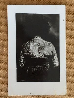 Vintage Bertie Lady Tattooed By Red Gibbons Original Postcard Photograph