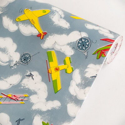 My Little Planes Vinyl Self-Adhesive Wallpaper Prepasted Wall Stickers Decor Fun