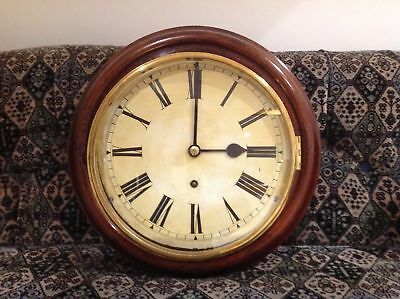 Original 10 inch Dial Wall Clock Antique W & H English Fusee Victorian