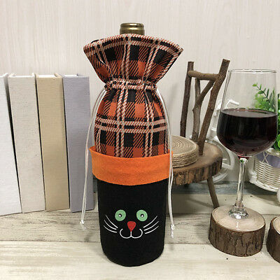 Halloween Witch Pumpkin Decoration Bottle Set Festival Red Wine Bag Handmade