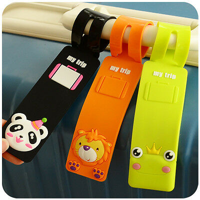 Silicone Cute Cartoon Travel Luggage Tag Baggage Suitcase Name Address ID Label
