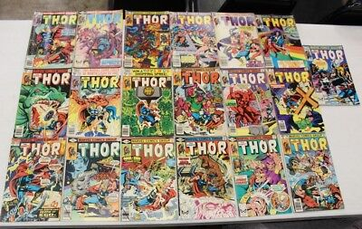 Marvel The Mighty Thor Vintage Comic Book Huge Lot Of 19 W/ #300 Bronze Age