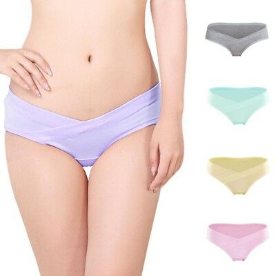 Women Pregnant Low Waist Knickers Maternity Underwear Soft Cotton Briefs Panties