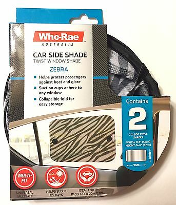 Car Shades Side Window Twist Shades Zebra Sun Protection Toddlers Baby