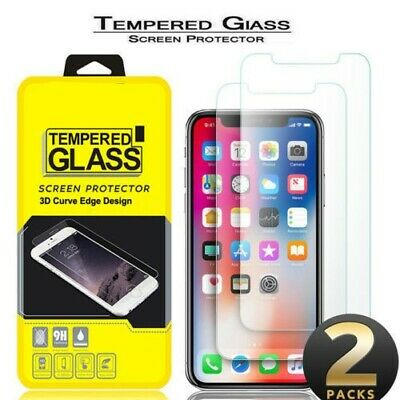 For Apple iPhone Xs Max XR XS X Anti-Scratch 9H Tempered Glass Screen Protector
