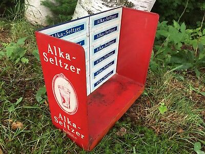 Antique Vintage Alka Seltzer Countertop Advertising Display Drug Store