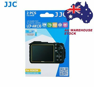 JJC LCP-AW130 LCD Screen Protector Protection Guard Film for Nikon COOLPIX AW130