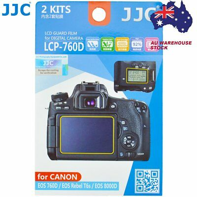 JJC LCP-760D LCD Guard Film Camera Screen Protector for Canon EOS 760D T6s 8000D