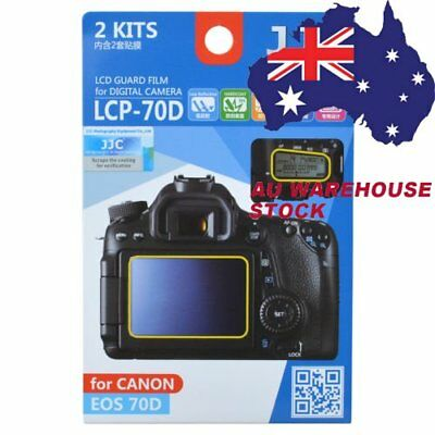 JJC LCP-70D LCD Guard Film Camera Screen Display Protector for Canon EOS 70D _AU