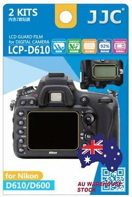 JJC LCP-D610 LCD Guard Film Camera Screen Display Protector for NIKON D610 D600