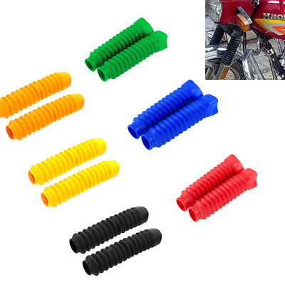 For Honda Motorcycle Rubber Front Fork Cover Protector Gaiters Gators Boot Shock