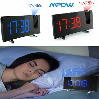 Projection Digital LED Projector Snooze Timer Alarm Clock Backlight Time Display