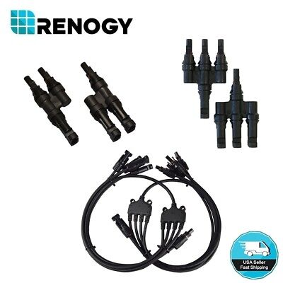 Renogy MC4 Branch Connector Solar Panel Parallel Splitter Coupler PV Cable IP67