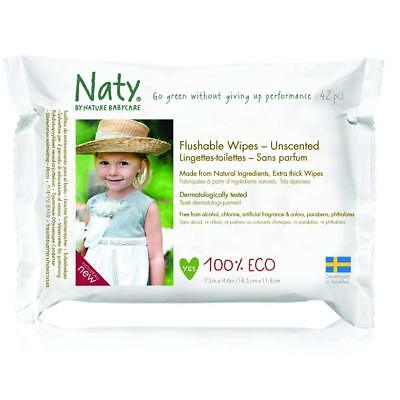 Naty by Nature Babycare Flushable Family Wipes 220g