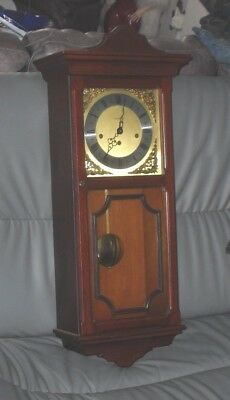 VINTAGE 1970s LARGE METAMEC WALL WESTMINSTER CHIME STRIKING PENDULUM CLOCK