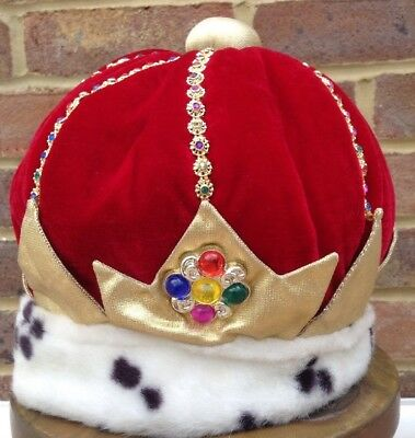 Little Daydreamers Fabric Jewelled Crown School Dressing Up King Queen