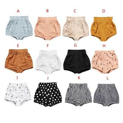 Newborn Kids Baby Girl Boy Cotton Shorts Pants Nappy Diaper Covers Bloomers AU