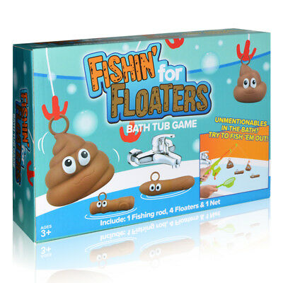 Fishing For Floaties Floaters Novelty Poo Game Kids Adults Bath Time Fun Water K