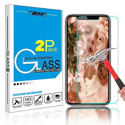 1/2x For iPhone XS Max / XR Premium 9H Tempered Glass Screen Protector Guard HD