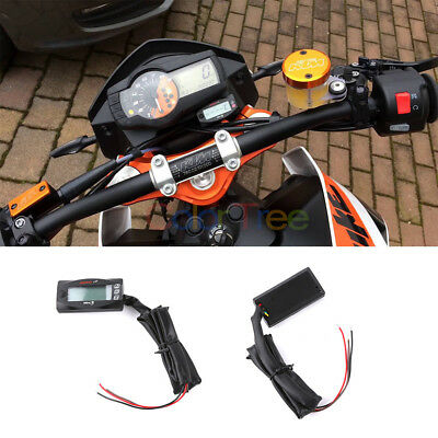 Motorcycle Multi-Function Digital Thermometer Voltmeter Time Water Meter Gauge