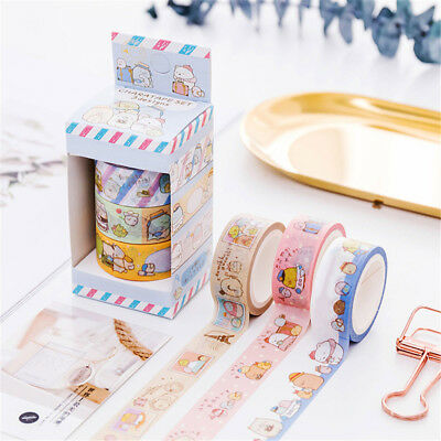 3pcs/set Cute Cartoon Washi Tape Kawaii Stationery Adhesive Masking Tapes Hot
