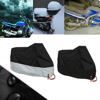 2Color Motorcycle Cover Outdoor Heavy Rain Dust-proof Protector Waterproof Cover