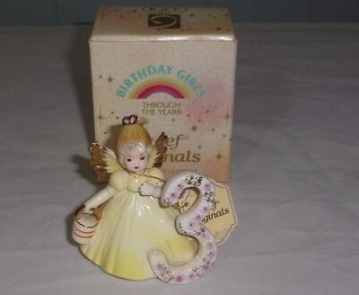 Josef Originals Birthday Angel Girl Figurine 3Rd Year  Vintage  In Box.
