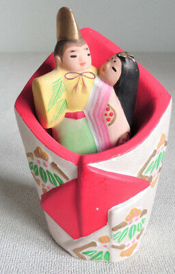 4 inch Japanese Clay Bell Dorei : design Hina dolls