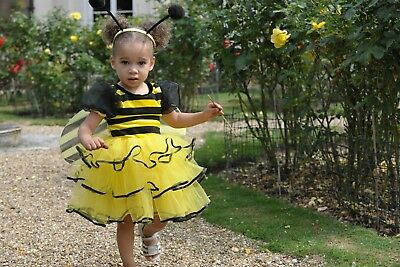 KIDS CUTE BUMBLE BEE BUZZY boys girls toddler fancy dress costume Age 2-3