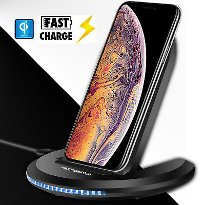 For Apple iPhone XS Max/XR/XS Qi Wireless Charger Charging Pad Holder Stand Dock
