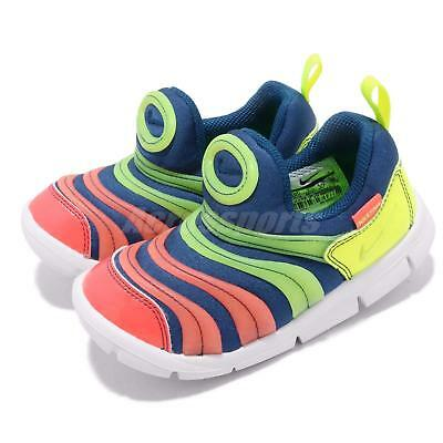 28117b290a5a Nike Dynamo Free SE TD Blue Green Yellow Toddler Infant Baby Shoes  AA7217-400