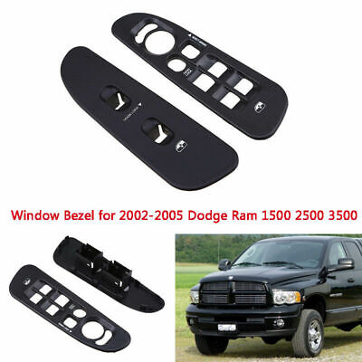 Power Window Panel Switch Bezel Control Cover For 02-10 Dodge Ram 1500 2500 3500